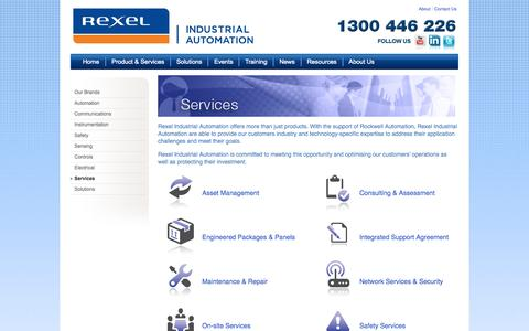 Screenshot of Services Page rexelautomation.com.au - Rexel Industrial Automation - captured Nov. 3, 2014