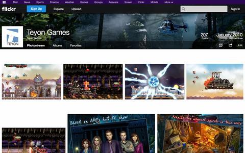 Screenshot of Flickr Page flickr.com - Flickr: Teyon Games' Photostream - captured Oct. 25, 2014