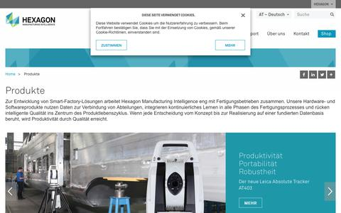 Screenshot of Products Page hexagonmi.com - Produkte | Hexagon Manufacturing Intelligence - captured Oct. 21, 2018