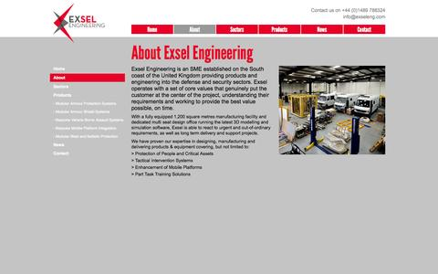 Screenshot of About Page exseleng.com - About - captured Oct. 3, 2014