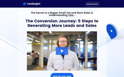 Screenshot of Landing Page leadpages.net - The Conversion Journey: Lead Generation & Sales Funnels - captured Feb. 7, 2017