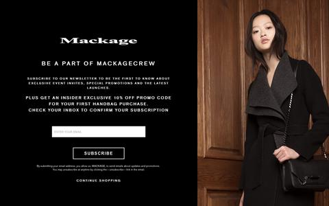 MACKAGE | NEWSLETTER SIGN UP