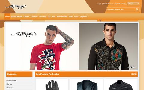 Screenshot of Home Page caminovoyage.com - Ed Hardy Shoes Womens USA Outlet | Top Designer Collections - captured Oct. 26, 2018