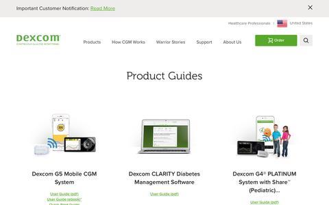 Dexcom Product Guides - User Guides, Quick Start, Tutorials | Dexcom