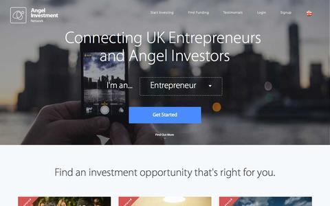 Screenshot of Home Page angelinvestmentnetwork.co.uk - The UK Angel Investment Network - Business Angels, Entrepreneurs & Angel Investors - captured Oct. 1, 2015