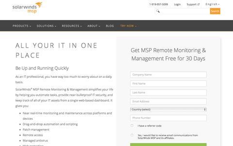 MSP Remote Management Trial | SolarWinds MSP