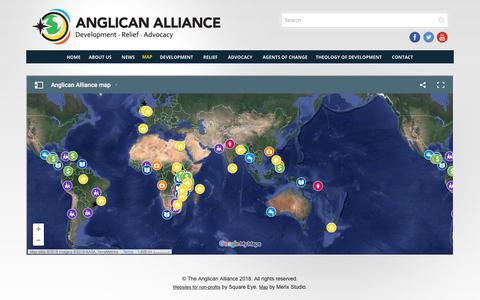 Screenshot of Maps & Directions Page anglicanalliance.org - Map - Anglican Alliance - captured July 30, 2018
