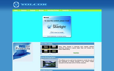 Screenshot of Products Page volcorsoftware.com - Volcor Software - Software Development Company | Product Development Company | Web Development Company - captured Oct. 9, 2014