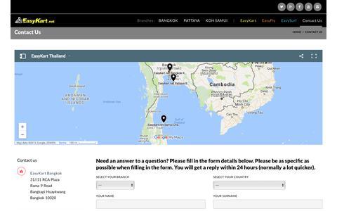Screenshot of Contact Page easykart.net - Contact Us  –  EasyKart.net - captured Nov. 29, 2016