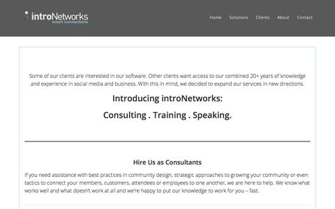 Screenshot of Services Page intronetworks.com - Services - introNetworks - captured July 13, 2018
