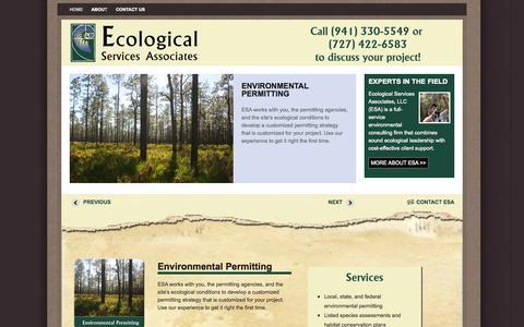 Screenshot of Home Page ecologicalsa.com - Ecological Service Associates|Environmental Services - captured Oct. 1, 2014