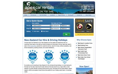 New Zealand Rental Car Hire | Apex Car Rentals New Zealand