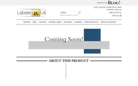 Screenshot of Products Page labelsrus.com - Paper Products - Personalized Graduation Supplies | LabelsRus - captured July 10, 2016