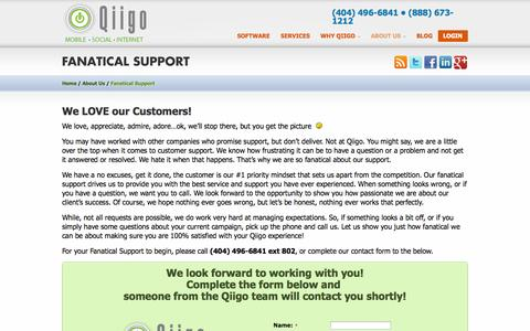 Screenshot of Support Page qiigo.com - Qiigo Support. Local Marketing for National Brands | Qiigo - captured Oct. 10, 2014
