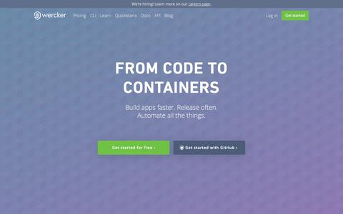 Wercker - From code to containers