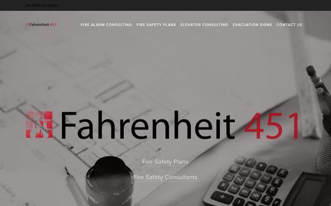 Screenshot of Home Page f451.ca - Fahrenheit 451 - captured Nov. 14, 2018