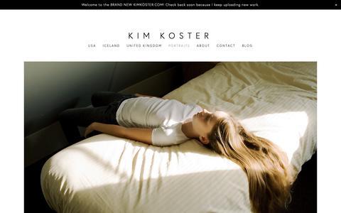 Screenshot of Team Page kimkoster.com - PORTRAITS — KIM KOSTER - captured Oct. 15, 2018
