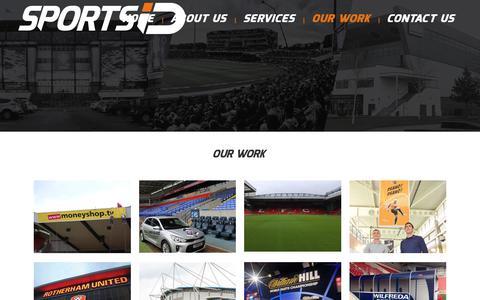 Screenshot of Case Studies Page sportsid.uk.net - Our Work – Sports ID - captured Nov. 14, 2017