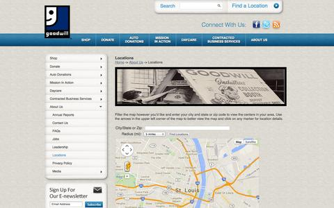 Screenshot of Locations Page mersgoodwill.org - Goodwill Store Locator | Goodwill Locations | MERS Goodwill - captured Sept. 30, 2014