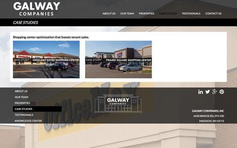 Screenshot of Case Studies Page galwaycompanies.com - Case Studies Archive | Galway Companies - captured Jan. 26, 2016