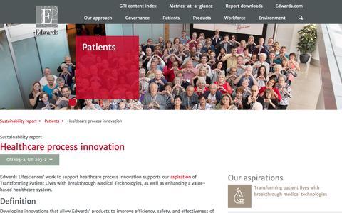 Healthcare process innovation – Edwards – Sustainability