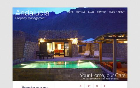 Screenshot of About Page apmcare.com - Andalucia Property Management | About - captured March 8, 2016