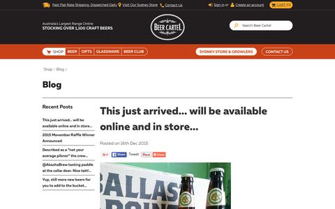 Screenshot of Blog beercartel.com.au - Blog - captured Dec. 31, 2015