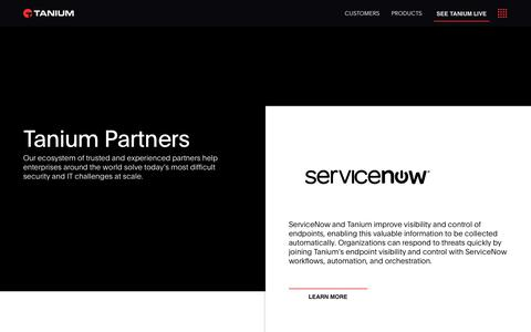 Tanium - Partners