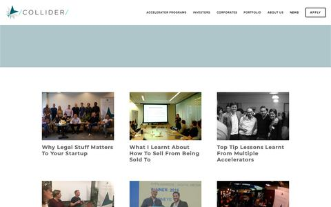 Screenshot of Press Page collider.io - Collider Accelerator — News on Collider Accelerator - captured Nov. 5, 2018