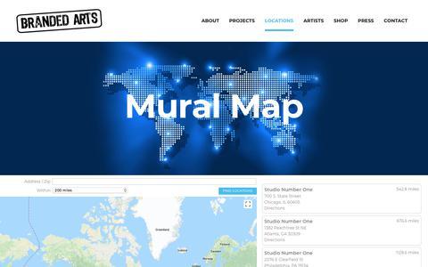 Screenshot of Maps & Directions Page brandedarts.com - Mural Map - Branded Arts - captured Aug. 3, 2018