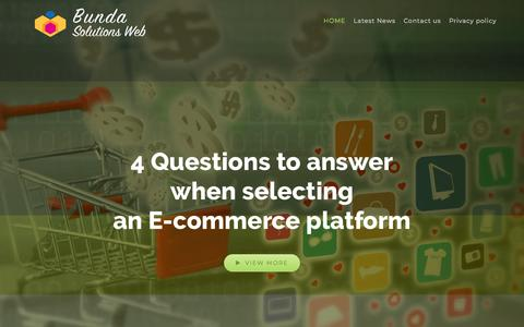 Screenshot of Home Page bundaiyan.com - 4 Questions To Answer When Selecting An E-commerce Platform - captured Aug. 4, 2018