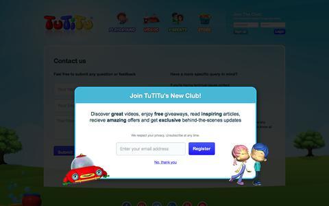 Screenshot of Contact Page tutitu.tv - Contact - TuTiTu - captured Nov. 12, 2017