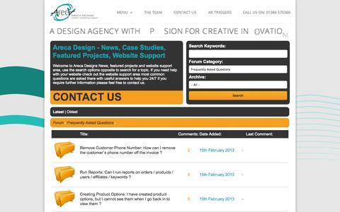Screenshot of FAQ Page arecadesign.co.uk - Frequently Asked Questions FAQ | Web Design I Website Design I Internet Marketing I Search Engine Optimisation (SEO) I Graphic Design I Exhibition Design I Augmented Reality I Mobile Apps - captured Sept. 30, 2014