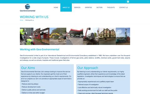 Screenshot of About Page gesl.net - Working With Us | Geo-Environmental - captured Jan. 27, 2016
