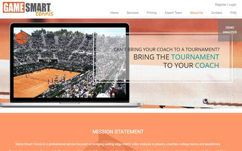 Screenshot of About Page gamesmarttennis.com - About Us - Game Smart Tennis - captured Dec. 7, 2015
