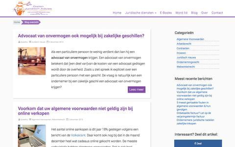 Screenshot of Blog gielenjuridischadvies.nl - Blog overzicht - Gielen Juridisch Advies|Juridisch advies|Algemene Voorwaarden - captured Dec. 9, 2015