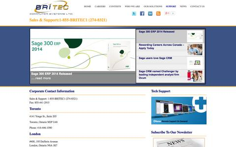 Screenshot of Contact Page Locations Page britec.com - Locations | Sage | Networking | IT | Custom Software | Britec Computer Systems | Britec Computer Systems - captured Oct. 22, 2014