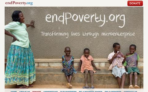 Screenshot of Home Page endpoverty.org - Home - endPoverty.org - captured Oct. 3, 2014
