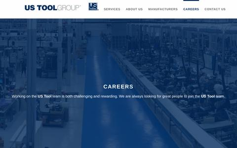 Screenshot of Jobs Page ustg.net - CAREERS | US TOOL GROUP - captured Sept. 11, 2018
