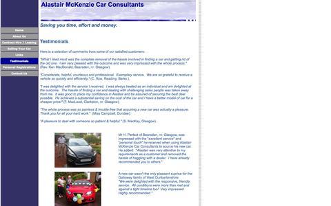 Screenshot of Testimonials Page car-consultants.co.uk - Testimonials - captured Oct. 4, 2014
