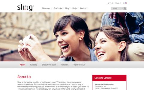 Screenshot of About Page sling.com - Slingbox.com - About Sling - captured Oct. 22, 2014