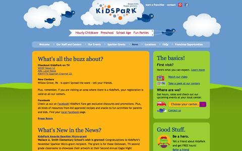 Screenshot of Press Page kidspark.com - KidsPark :  - Happy Kids. Happy Parents. - captured Oct. 6, 2014