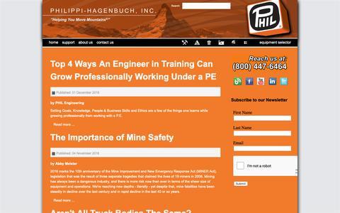 Screenshot of Blog philsystems.com - Blog - Philippi-Hagenbuch - Custom equipment for off-highway haul trucks - captured Sept. 28, 2018