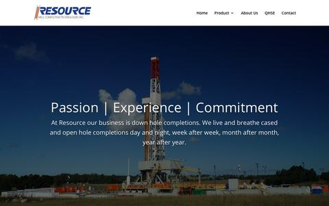 Screenshot of About Page resourcewct.com - About Us | Resource Well Completion Technologies - captured Nov. 15, 2018