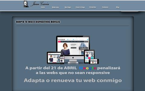 Screenshot of Home Page maketanet.com - Juan garc'a Mi p‡gina personal - captured Dec. 17, 2015