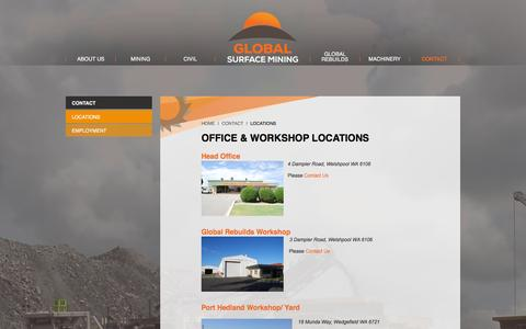 Screenshot of Locations Page globalsurfacemining.com - Locations - Global Surface Mining - captured Jan. 30, 2016