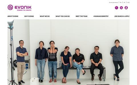 Screenshot of Team Page evonik.com - Anant                                                                - Evonik Careers - captured July 14, 2018