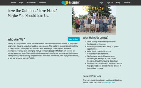 Screenshot of Jobs Page fishidy.com - Find a Career Opportunity at Fishidy - captured Nov. 3, 2015