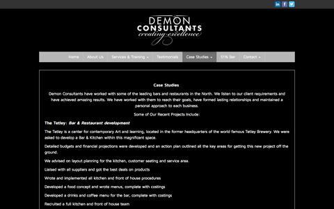 Screenshot of Case Studies Page demon-consultants.com - Case Studies - Demon Consultants - captured Sept. 30, 2014