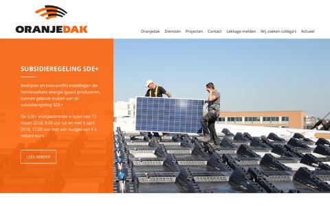 Screenshot of Home Page oranjedak.nl - Home | Oranjedak - captured Oct. 18, 2018